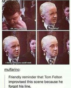 20 internet posts and memes about Harry Potter Ron Hermione Snape Dumbledore and the rest of the Hogwarts bunch. Enjoy these Harry Potter memes Arte Do Harry Potter, Harry Potter Puns, Harry Potter Universal, Harry Potter World, Harry Potter Ron And Hermione, Funny Harry Potter Quotes, Harry Potter Fun Facts, Tom Felton Harry Potter, Harry Potter Groups