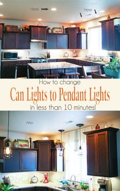 Change Can Lights To Pendant Lights {in Less Than 10 Minutes} On  Kleinworthco.
