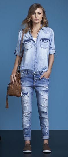 look all jeans camisa e calça jeans lez a lez primavera 2017 jeans women's size chart, jeans women's size 16, jeans womens sale, jeans womens pants, jeans women's size conversion chart, jeans women's. #ad