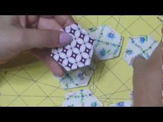 PATCHWORK JARDIN DE LA ABUELA - YouTube Tutorial acerico flor de hexágonos