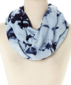 Look what I found on #zulily! Blue Night Tie-Dye Infinity Scarf #zulilyfinds  $14.99
