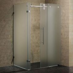 Visit The Home Depot To Vigo 57 In X 73 Frameless Byp Shower Enclosure Chrome With Frosted Gl
