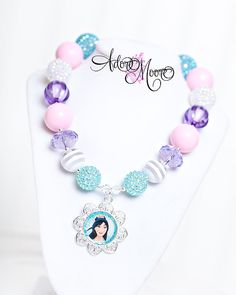 Mulan Necklace Disney Kids Necklace Chunky by AdoreMooreBoutique, $22.00 - One of Sam's favorites right now