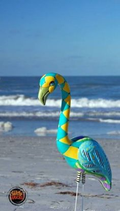 Fruity-Flava Flamingo by Indian Rocks Beach artist Adria Bernstein.