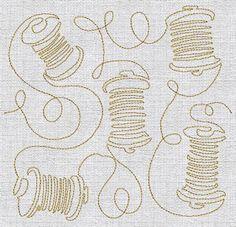 Continuous Lines - Stitching Redwork Applique Machine Embroidery Design Machine Quilting Designs, Quilting Patterns, Quilting Ideas, Machine Embroidery Designs, Longarm Quilting, Free Motion Quilting, Hand Quilting, Continuous Line, Diy Embroidery