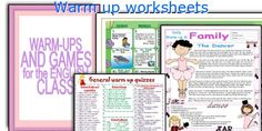 Warm up worksheets Classroom Management, Quizzes, English Language, Teaching Resources, Worksheets, Warm, Activities, English People, Quizes