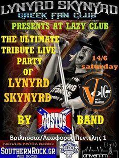 """""""Nostos"""" play Lynyrd Skynyrd @ LAZY Club June 14th"""