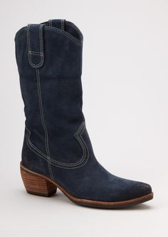 Navy cowboy boots. Perfect.  Love it!