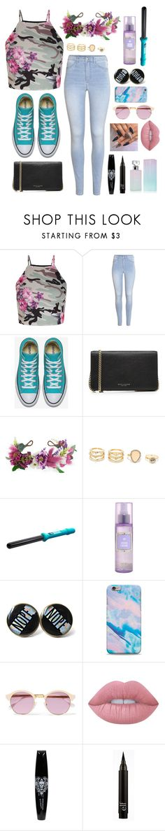 """""""Untitled #503"""" by i-found-wonderland ❤ liked on Polyvore featuring New Look, H&M, Marc Jacobs, Rock 'N Rose, LULUS, Sheriff&Cherry, Lime Crime and Calvin Klein"""