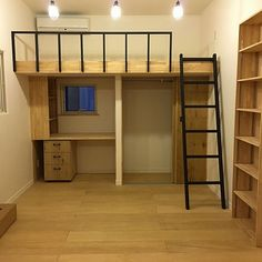Loft Beds For Small Rooms, Small Room Design Bedroom, Small Apartment Bedrooms, Girl Bedroom Designs, Home Room Design, Small Apartments, Small Bedrooms, Teenage Bedrooms, Small Loft