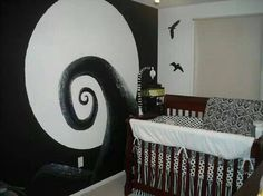 Tim Burton inspired nursery from hlmaloney91880 on babycenter.com. Click for more pics.