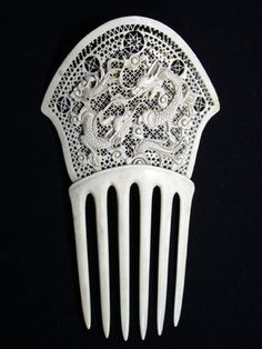 Ebay: Chinese Ivory Export Comb « Barbaraanne's Hair Comb Blog