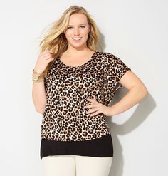 027eeb7cfcc Shop plus size tops like the Zip-Up 2Fer Top available online at  avenue.com.