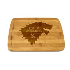 Popular TV series inspired bamboo cutting board.