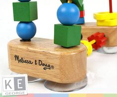 The brightly coloured, smooth-sanded pieces of the First Bead Maze helps build early shape, colour and size differentiation skills. Differentiation, Maze, Bright Colors, Bead, Smooth, Shapes, Colour, Toys, Color