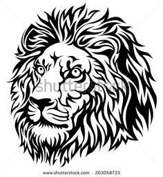 stock-vector-black-lion-head-203058733.jpg (433×470)