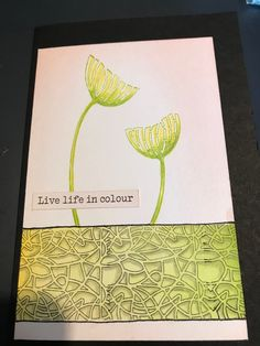 Claritystamps craftalong with Barbara Color Of Life, Live Life, Clarity, Stencils, Trees, Stamp, Floral, Artist, Projects
