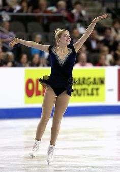 Gracie Gold, Ladies short at Skate America 2014, Midnight Blue Figure Skating / Ice Skating dress inspiration for Sk8 Gr8 Designs.