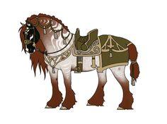 Dashner's seasonal tack [animation] by EmeraldTheWolf Fantasy Creatures, Dark Creatures, Creature Feature, Creature Design, Medieval Horse, Realistic Cartoons, Horse Armor, Horse Costumes, Art Prompts