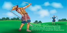 Bible Story Murals - David and Goliath