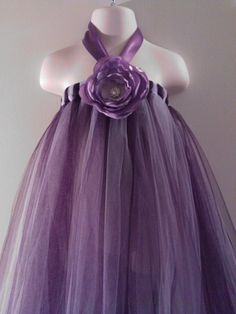 Items similar to SALE SALE SALE- I do custom tutu- Purple Lavender Halter tutu Dress - Princess, Fairy, Party, Halloween, Dress up on Etsy Tutu En Tulle, Diy Tutu, Tulle Dress, Dress Up, Tutu Dresses, Tutu Skirts, Little Girl Dresses, Girls Dresses, Flower Girl Dresses