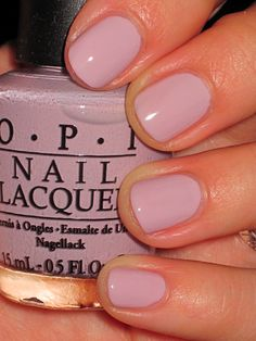 OPI Steady As She Rose - lovely color - Got this nail polish for Christmas 2011. I recommend if you get this to put on several coats because this color went on real thin.