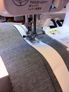 Inserting a stretch waistband. For more sewing patterns, sewing tips and sewing tutorials visit http://you-made-my-day.com/