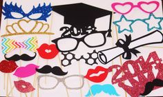 25 PhotoBooth Props Mustache Party Lips Wedding by PhotoBoothgirls