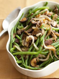 Get the recipe for Green Beans with Mixed Mushrooms #vegetarian