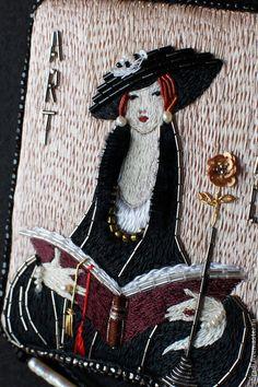 Купить или заказать Кулон-колье ' Эстетка'. в интернет-магазине на Ярмарке Мастеров. Работа по мотивам знаменитых художников начала 20-го века - .www.livemaster.ru/topic/920167-maniya-art-deco-i-drugie-voprosy-bytiya?vr=1&inside=0 Настоящая эстетка, дама, которая любит Black tie, читать умные книги, стиль chinoiserie и думаю, что она, вообще, очень утонченная особа))) Во время работы выяснилось, что она дама с характером, требовательная)))) Эта дама выбрала для себя винтажные…