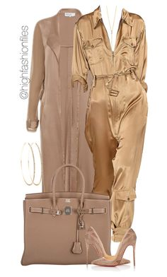 """""""Silky"""" by highfashionfiles ❤ liked on Polyvore featuring ZoÃ« Chicco, Hermès and Christian Louboutin"""