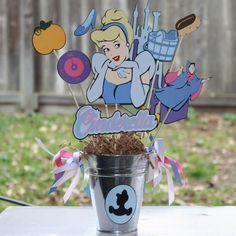 Disney's Princess Cinderella party centerpiece. $32.00, via Etsy.