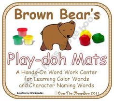 Brown Bear's Play-doh Mats