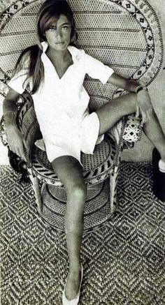 Francoise hardy- Love her and the chair my parents use to have in the house I grew up in.