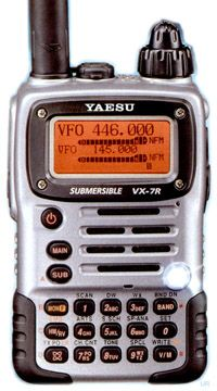 Yaesu VX7R - This is a nice radio but the finish (at least in the silver model) wore off in no time making it look all beat up.