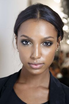 Jasmine Tookes. That eye and subtle lip kill me. Not to mention her skin is glowing!!!