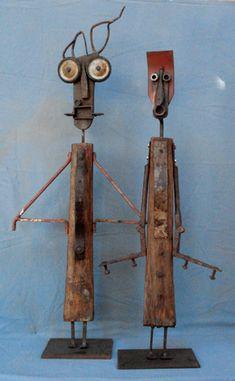 scrap metal for art Metal Sculpture Artists, Art Sculpture, Found Object Art, Found Art, Wood Shop Projects, Art Projects, Scrap Metal Art, Welding Art, Robot Art