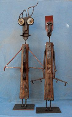 scrap metal for art Found Object Art, Found Art, Metal Sculpture Artists, Wood Shop Projects, Welding Art Projects, Scrap Metal Art, Robot Art, Assemblage Art, Recycled Art