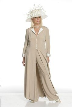 Silk Coat and Trousers LOVE this outfit again more me than a fancy frock do trousers not really a dress person, again minus the hat all these hats are too fancy for me I much prefer simple and elegant this is too OTT