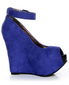 electric blue wedge. I've wanted a pair of these for a while!