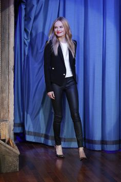 Denim Inspiration: Kate Bosworth in coated denim