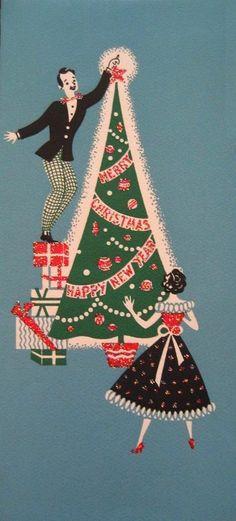 Old Christmas Post Сards — Vintage  (430x950)