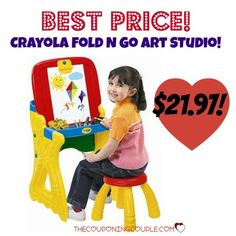 WOW!! BEST PRICE!! Get the Crayola Play N Fold Art Studio for only $21.97! It is around $40 at Target, Toys R Us and Amazon! Grab it now for your budding artist! Click the link below to get all of the details ► www.thecouponingc... #Coupons #Couponing #CouponCommunity Visit us at www.thecouponingc... for more great posts!