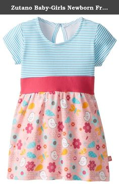 Zutano Baby-Girls Newborn Friendly Bird Banded Waist Dress, Pink, 6 Months. This new Zutano dress for baby is a great choice for your next special occasion. It features cap sleeves and a pretty neckline with a keyhole button at the back for easy dressing. A stripe top meets a solid empire waist while the full skirt features a fun spring print. Great for layering over leggings or diaper covers.