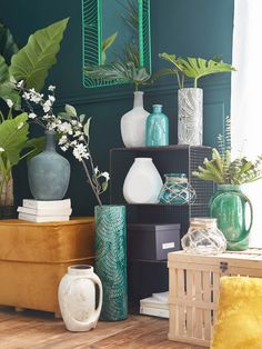 Diy Deco Rangement, Tropical Decor, Home Staging, Interior Inspiration, Exotic, Vase, Sweet Home, Art Deco, Indoor