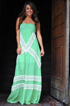 JUDITH MARCH: Picnic Maxi Dress: Green