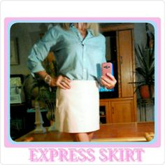 EXPRESS PASTEL PINK MINI SKIRT EXPRESS PASTEL PINK MINI SKIRT SIZE 3-4    56% COTTON    37% POLYESTER     7% SPANDEX SIDE INVISIBLE ZIPPER. EXTREMELY COMFORTABLE! EXPRESS Skirts Mini