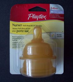 Playtex Nurser Naturalatch Latex Bottle Nipples 3-6 Months+ Fast Flow BPA Free #Playtex | Eric's General Store