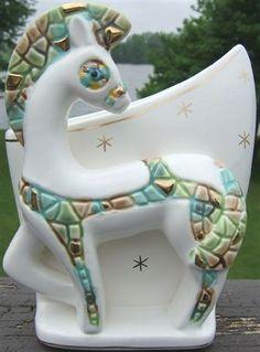 Check out horse planter mosaic retro style design 1950s ceramic vintage gold highlights on @eBay http://r.ebay.com/BJ38nS