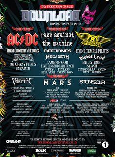 Download Festival 2010 Poster